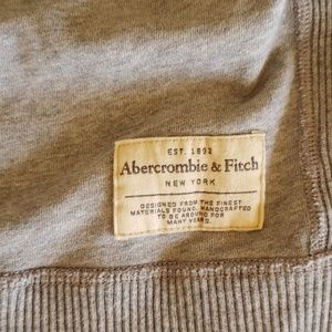 Abercrombie & Fitch Shirts - ABERCROMBIE distressed sweatshirt grey muscle L